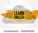 learn english word cloud... | Shutterstock .eps vector #766346209