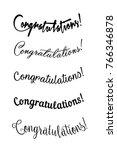congratulations lettering.... | Shutterstock .eps vector #766346878