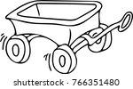 handcart vector graphic | Shutterstock .eps vector #766351480
