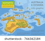 isometric 3d australia and... | Shutterstock .eps vector #766362184