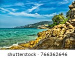 patong beach phuket thailand... | Shutterstock . vector #766362646