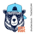 Cool Bear Illustration For T...