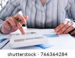 auditor or internal revenue...   Shutterstock . vector #766364284
