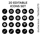 accuracy icons. set of 20... | Shutterstock .eps vector #766366570