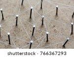 linking entities. network ... | Shutterstock . vector #766367293