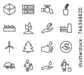 thin line icon set   box  panel ... | Shutterstock .eps vector #766368820