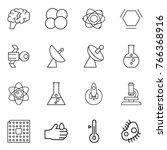 thin line icon set   brain ... | Shutterstock .eps vector #766368916