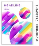multicolor cover with round ... | Shutterstock .eps vector #766369846