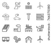 thin line icon set   gear ... | Shutterstock .eps vector #766370380
