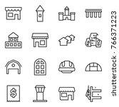 thin line icon set   shop ...   Shutterstock .eps vector #766371223