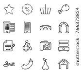thin line icon set   star ... | Shutterstock .eps vector #766373824