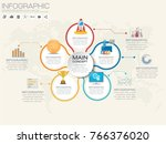infographic design vector and ... | Shutterstock .eps vector #766376020