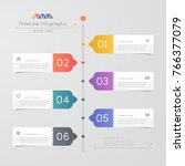 timeline infographics design... | Shutterstock .eps vector #766377079