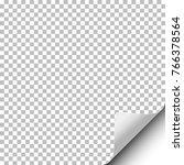 vector transparent sheet of... | Shutterstock .eps vector #766378564