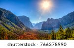 yosemite valley view  yosemite... | Shutterstock . vector #766378990