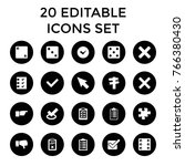 choice icons. set of 20... | Shutterstock .eps vector #766380430