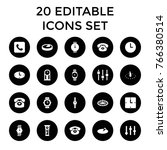 dial icons. set of 20 editable... | Shutterstock .eps vector #766380514