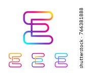 abstract letter e line monogram ... | Shutterstock .eps vector #766381888
