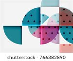 circle elements on black... | Shutterstock .eps vector #766382890