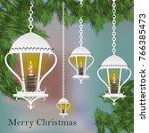 vector design of decorated... | Shutterstock .eps vector #766385473