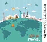 journey travel icon design | Shutterstock .eps vector #766386208