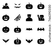 origami style icon set   zombie ... | Shutterstock .eps vector #766390330