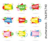 set of colorful abstract chat... | Shutterstock .eps vector #766391740
