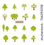 icons trees.  symbols isolated... | Shutterstock . vector #766393558