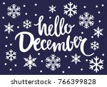 hello december vector... | Shutterstock .eps vector #766399828