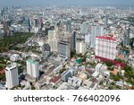 panoramic view of the bangkok... | Shutterstock . vector #766402096