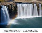 harajiri waterfall in oita japan   Shutterstock . vector #766405936