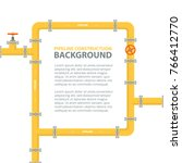 industrial background with... | Shutterstock .eps vector #766412770