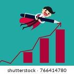 businessman superhero drawing... | Shutterstock .eps vector #766414780