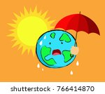 global warming concept. the...   Shutterstock .eps vector #766414870