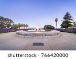 sunset at the eternal flame at... | Shutterstock . vector #766420000