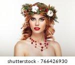 portrait of beautiful young... | Shutterstock . vector #766426930