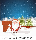 christmas santa claus with...   Shutterstock .eps vector #766426960