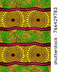 textile fashion african print... | Shutterstock .eps vector #766429783