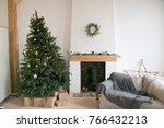 living room in scandinavian... | Shutterstock . vector #766432213