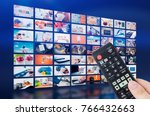 multimedia video wall... | Shutterstock . vector #766432663