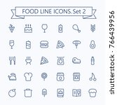 food vector  icons set. thin... | Shutterstock .eps vector #766439956
