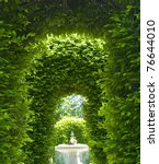 Outdoor Park Archways Over A...