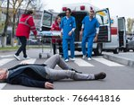 cropped image of doctors going...   Shutterstock . vector #766441816
