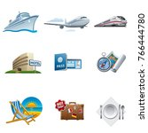 travel and tourism icon set | Shutterstock . vector #766444780