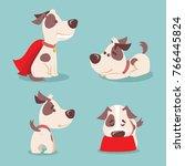 vector illustration of four... | Shutterstock .eps vector #766445824