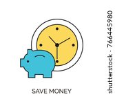 save money icon | Shutterstock .eps vector #766445980