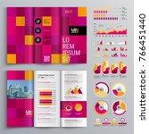 business brochure template... | Shutterstock .eps vector #766451440