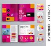 business brochure template... | Shutterstock .eps vector #766451446