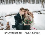 cute couple in love with a... | Shutterstock . vector #766452484