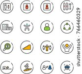 line vector icon set   elevator ... | Shutterstock .eps vector #766460329